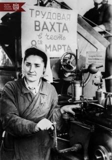 T. F. Morozov  la Fabrica de tutun din or. Chișinău, anul 1953, indice: 27156