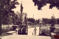 """Monumentul """"Ștefan cel Mare"""", vedere din parcul central, sculptor Alexandru Plămădeală (carte poștală)."""